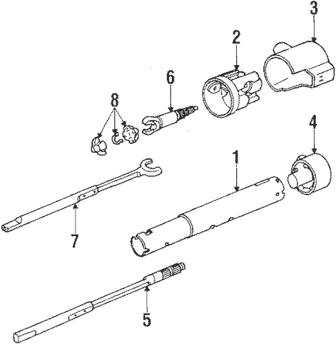 Steering Column Assembly for 1992 Chevrolet Camaro (RS
