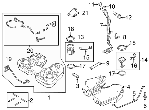 Fuel System Components for 2015 Ford Police Interceptor