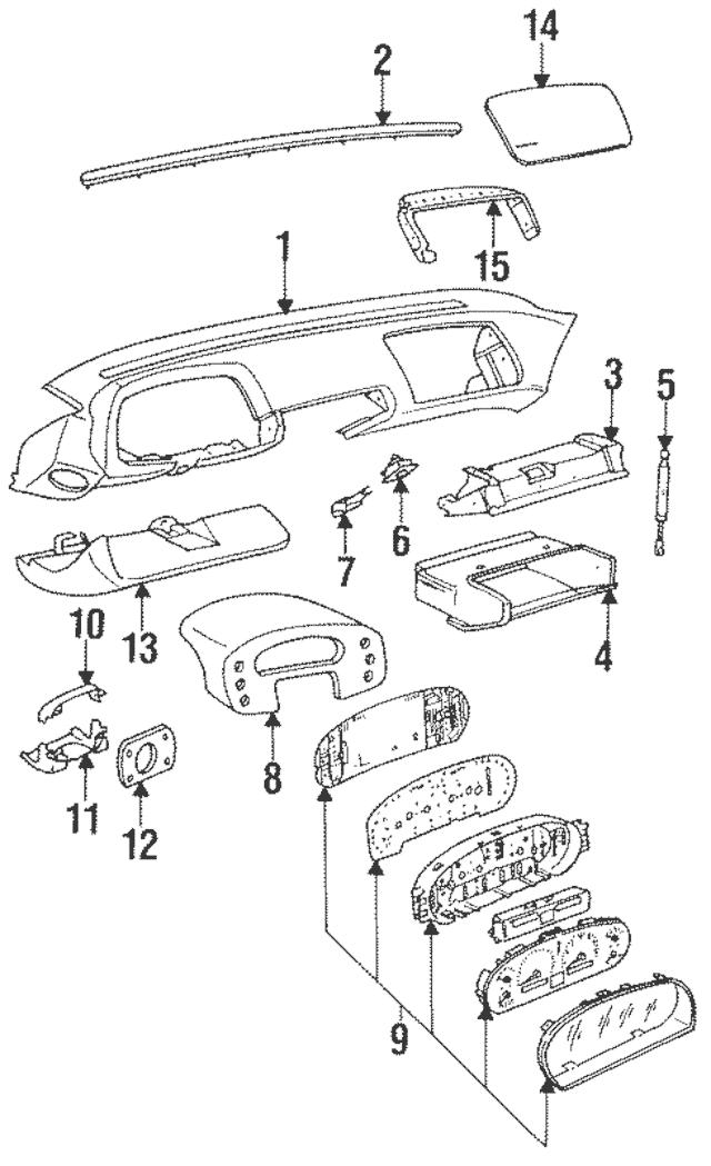 1990-1995 Porsche 928 Instrument Cluster Assembly 928-641