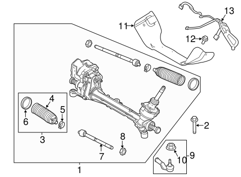 Steering Gear & Linkage for 2015 Ford Focus