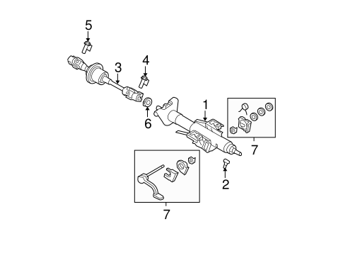 STEERING COLUMN ASSEMBLY for 2007 Saturn Aura