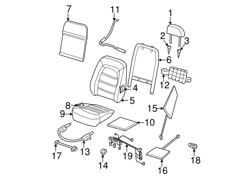 Front Seat Components for 2004 Ford Explorer