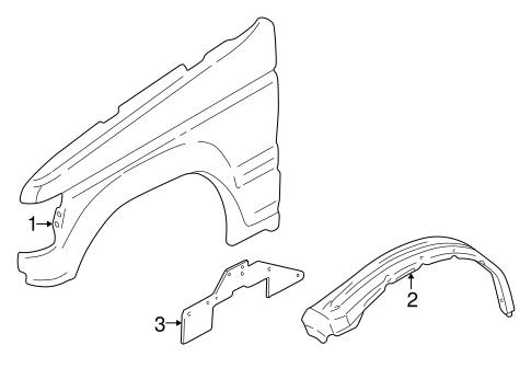 Fender & Components for 2001 Mitsubishi Montero Limited