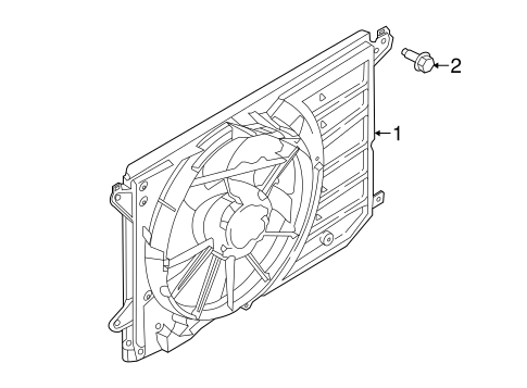 COOLING FAN for 2013 Lincoln MKZ