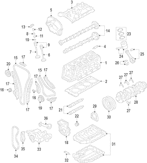 2008-2019 Audi Engine Timing Chain Tensioner 06K-109-467-K