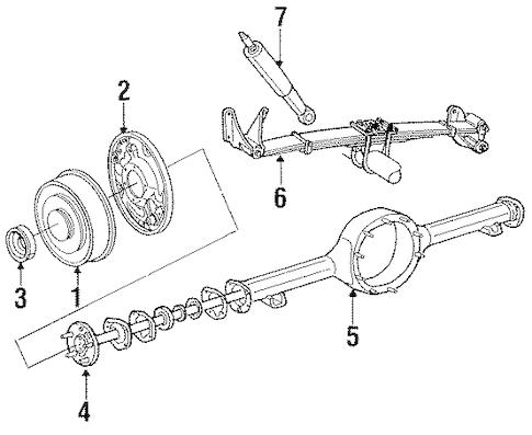 REAR BRAKES for 1988 Ford E-350 Econoline
