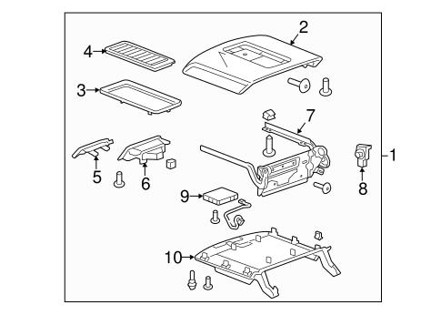 OEM 2015 Chevrolet Suburban Center Console Parts