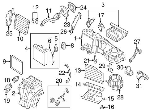 Evaporator & Heater Components for 2010 Volkswagen GTI