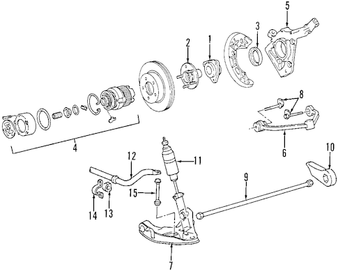 FRONT SUSPENSION for 1999 Ford Explorer