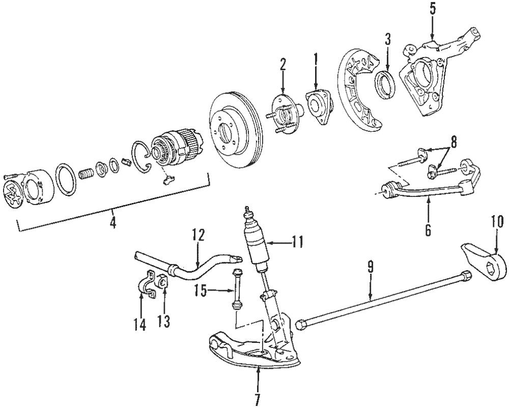 Genuine OEM Ford Ranger Explorer 4x4 Locking Hub Assembly