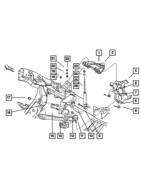 Dodge Dakota Front Suspension Diagram : dodge, dakota, front, suspension, diagram, Front, Suspension, Dodge, Dakota, MOPAR, PARTS