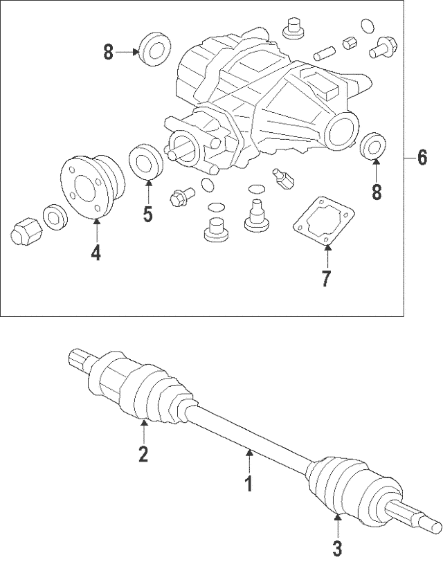 Genuine OEM Manual Transmission Output Shaft Seal Part