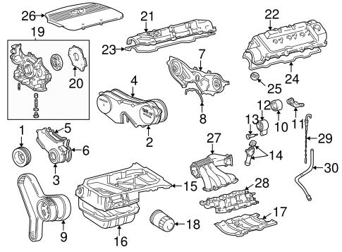 ENGINE PARTS for 2001 Toyota Sienna