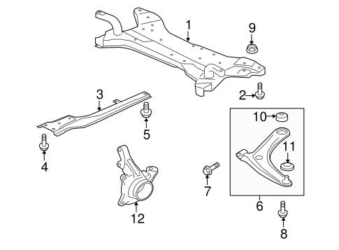 Suspension Components for 2008 Mitsubishi Lancer GTS