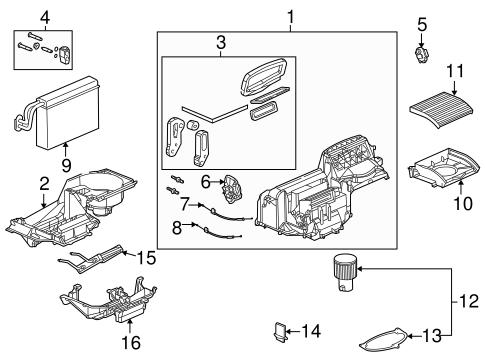 OEM 2003 Saturn Ion Blower Motor & Fan Parts
