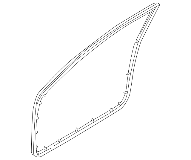 2002-2004 Nissan Altima Door Weather-Strip 80831-3Z600