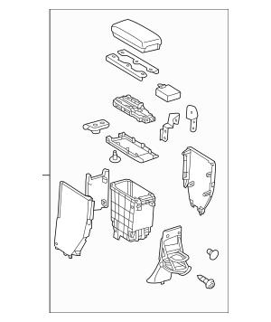 2012-2014 Toyota Prius C Storage Compartment 58905-52020