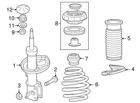 OEM 2016 Chevrolet Cruze Limited Struts & Components Parts