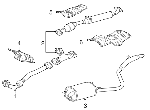 Genuine OEM Exhaust Components Parts for 2005 Toyota