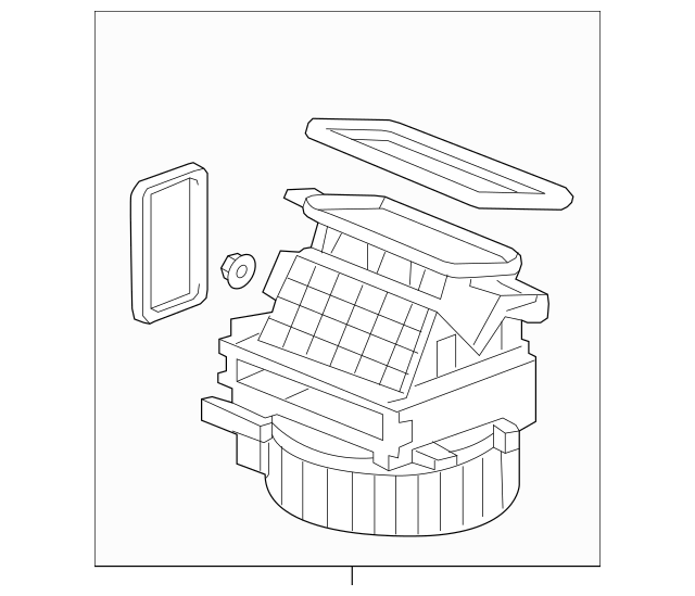 2006-2014 Honda RIDGELINE SEDAN Blower Sub-Assembly 79305