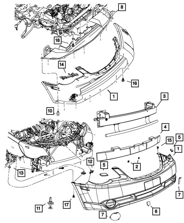 2007-2010 Chrysler Sebring Fascia Bracket, Right