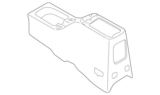 1997-1999 Mitsubishi Montero Sport Console Body MR763486