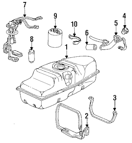 OEM Fuel System Components for 1993 Chevrolet S10
