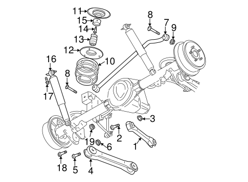 REAR SUSPENSION for 2002 Jeep Wrangler