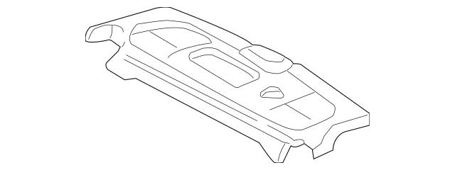 2004-2005 Honda CIVIC HYBRID SEDAN Tray, Rear *YR239L