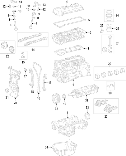 Genuine OEM Mounts Parts for 2012 Toyota Camry Hybrid XLE