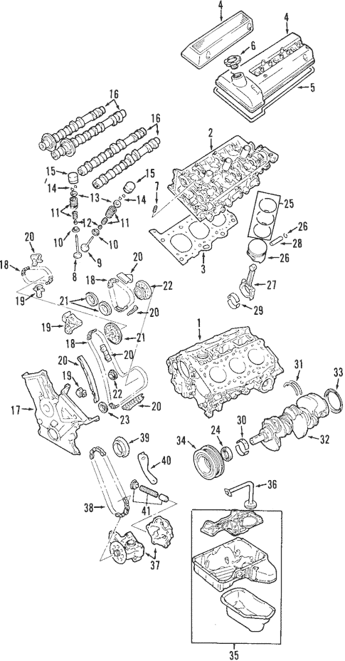 OEM Engine Parts for 2001 Chevrolet Tracker