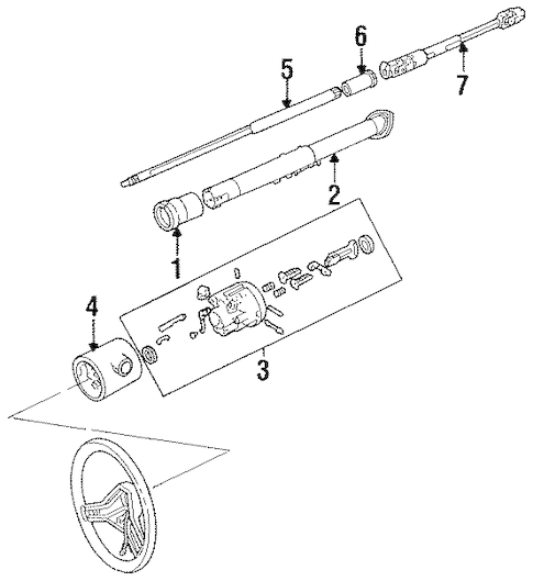 SHAFT & INTERNAL COMPONENTS for 1988 Jeep Comanche