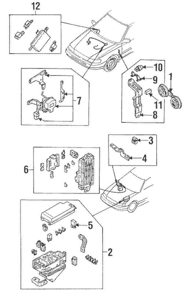 1990-2001 Subaru Fuse & Relay Box Retainer Clip 81910AA150