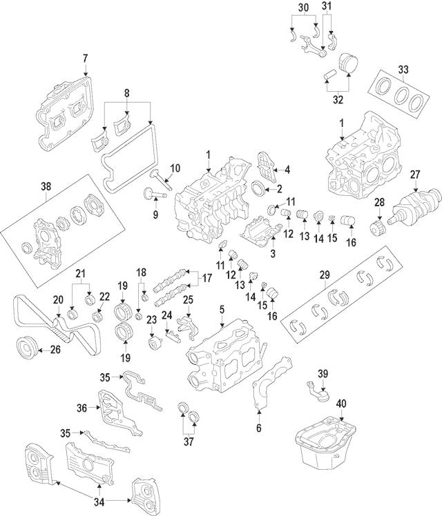 2002-2014 Subaru Camshaft Gear [Exhaust, Left Lower] Turbo