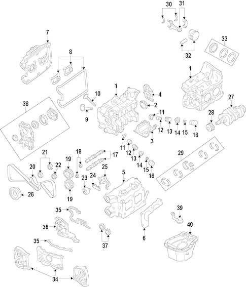 ENGINE for 2009 Subaru Forester