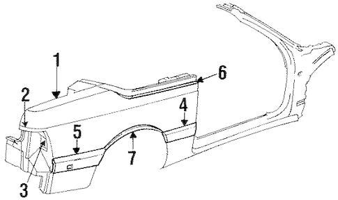 Quarter Panel & Components for 1995 Chrysler LeBaron
