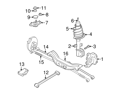 OEM 2012 Chevrolet Impala Rear Suspension Parts