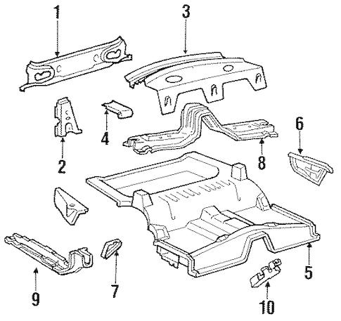 REAR UPPER BODY for 1988 Ford Thunderbird