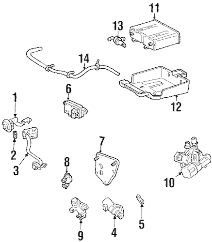 Fuel System Components for 1999 Mercury Cougar