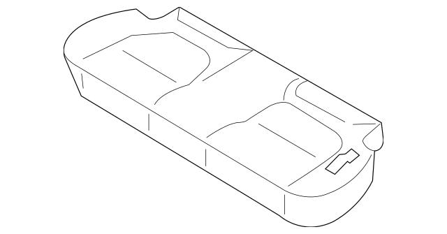 2003-2005 Kia Rio Seat Cushion Foam 89100-FD100090