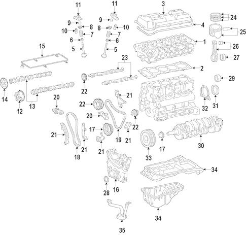 Genuine OEM Engine Parts for 2012 Toyota Tacoma Base