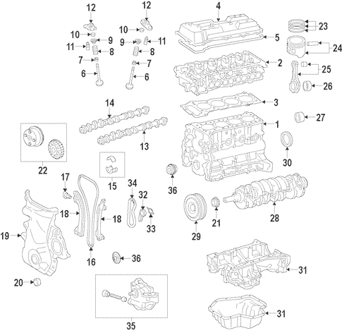 Genuine OEM Engine Parts for 2010 Toyota Corolla LE