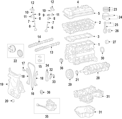 Genuine OEM Engine Parts for 2009 Toyota Corolla LE