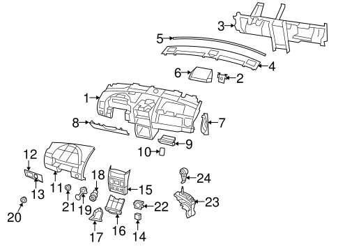Instrument Panel Components for 2008 Dodge Grand Caravan