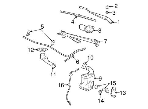 2005-2013 Chevy Malibu Pontiac G6 Windshield Washer Nozzle