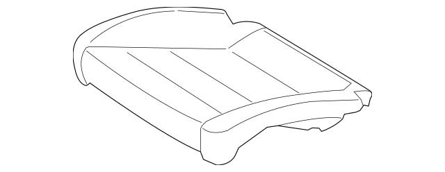 Porsche Seat Cushion Pad (991-521-571-05) For Sale