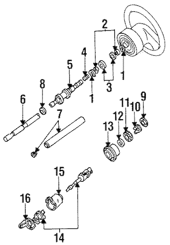 Shaft & Internal Components for 1994 Ford Explorer