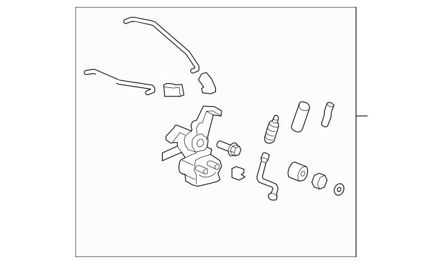Honda Hinge Assembly, R Tailgate (Lower) (68732-SJC-A00