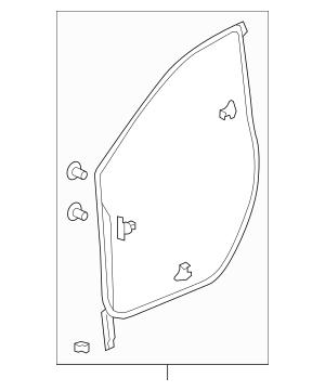 Genuine Honda Weatherstrip, L Front Door 72350-TLA-A01