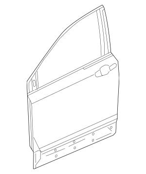 2017-2020 Honda CR-V 5-DOOR Panel, R Front Door 67010-TLA